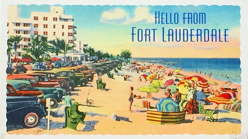 Hello from Fort Lauderdale Sign